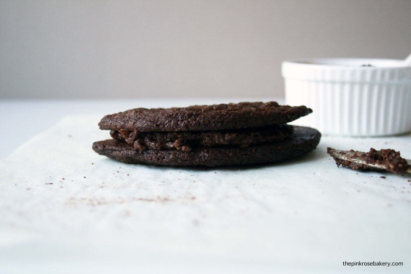 Nutella Cookies with Spread {gluten free} | The Pink Rose Bakery