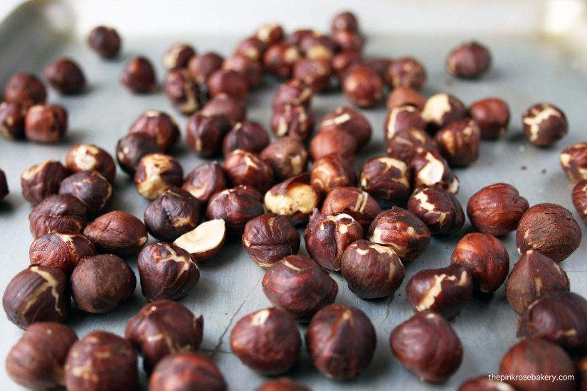 Roasted Hazelnuts | The Pink Rose Bakery