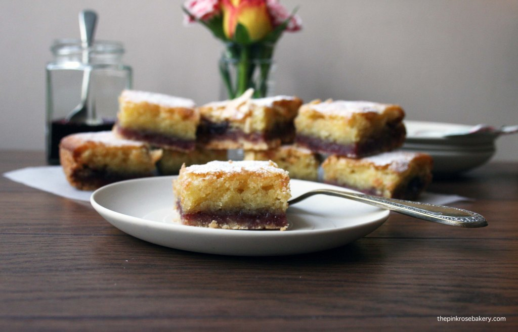 Bakewell Squares {gluten free} 2 | Pink Rose Bakery