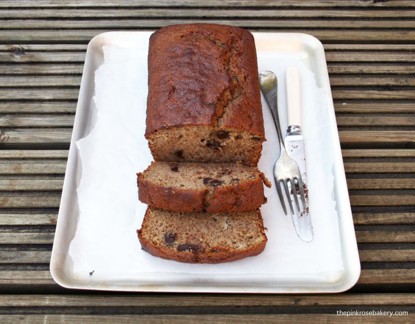 Chocolate Chip Banana Bread {gluten free, diary free} 1 | The Pink Rose Bakery