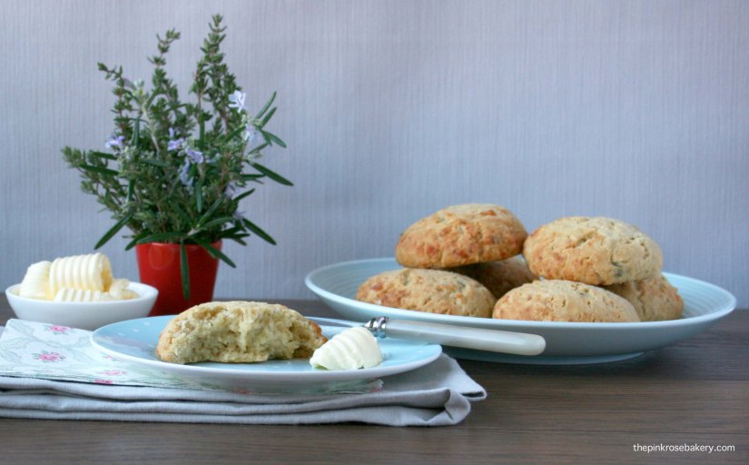 herb & cheese scones 1 {gluten free} | the pink rose bakery