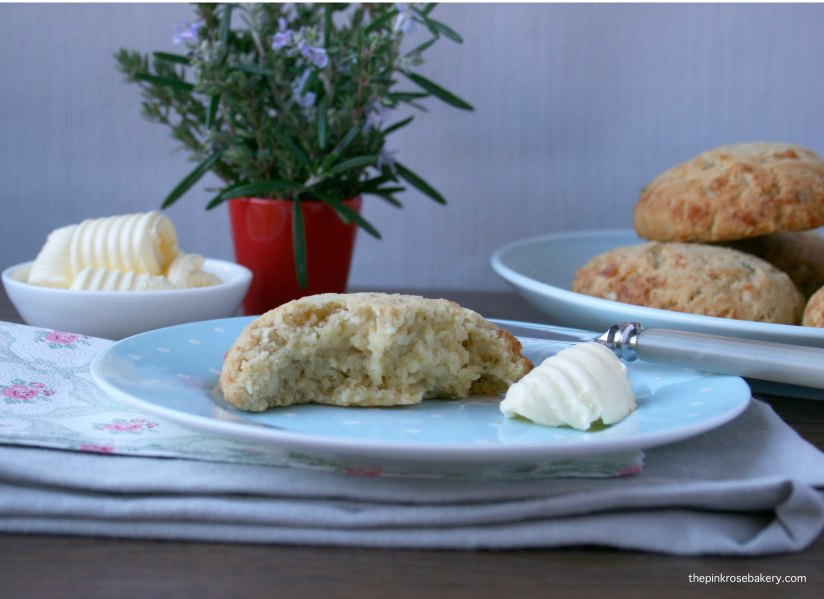 herb & cheese yeasted scones 2 {gluten free} | the pink rose bakery
