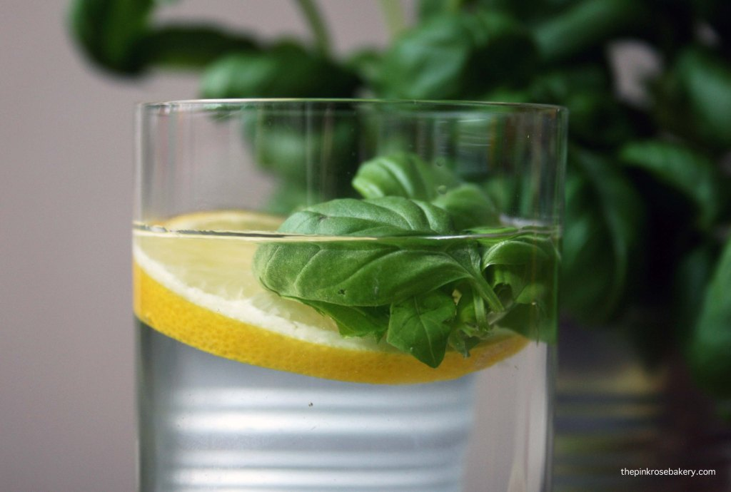 Infused water - lemon lime basil 1 | The Pink Rose Bakery