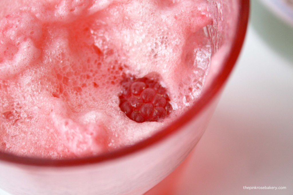 Raspberry Cream Soda - peeking raspberry | The Pink Rose Bakery