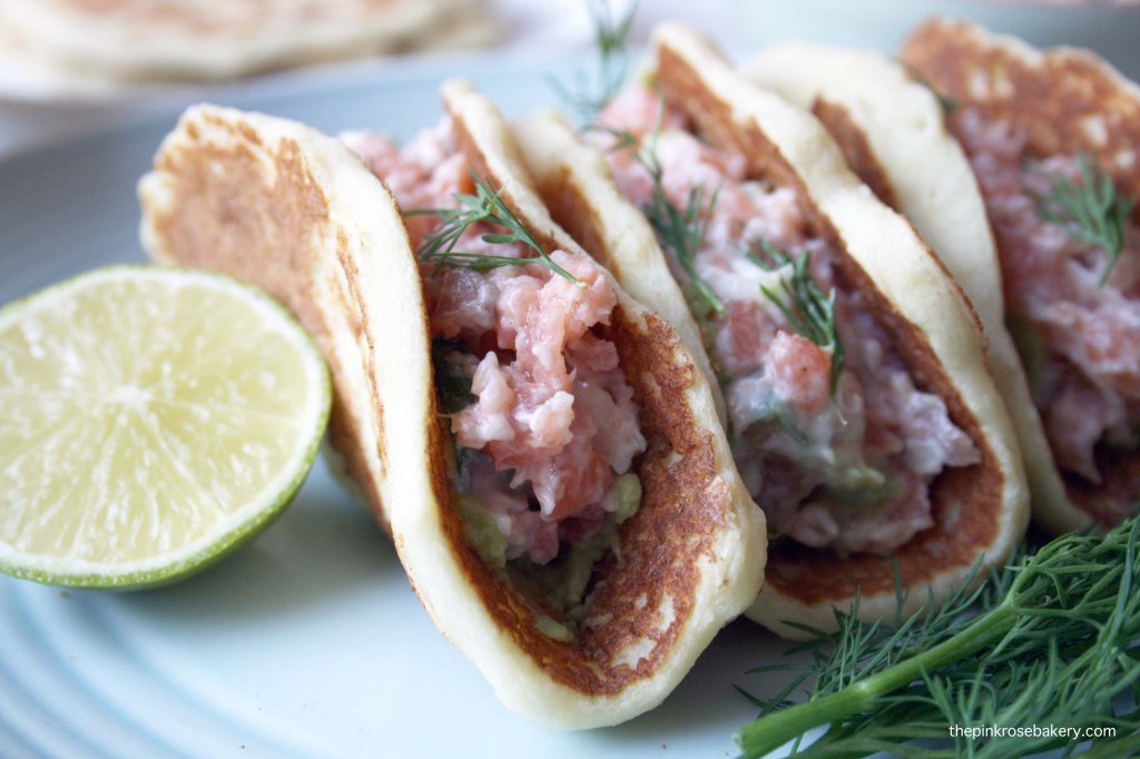 Smoked Salmon with Potato Tacos {gluten free & dairy free} 2 | The Pink Rose Bakery