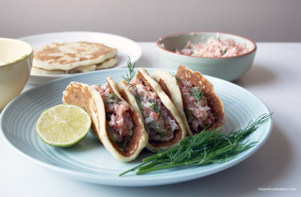 Smoked Salmon with Potato Tacos {gluten free & dairy free} 3 | The Pink Rose Bakery