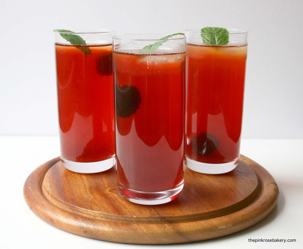 Berry Iced Tea using teapigs everyday brew | the pink rose bakery