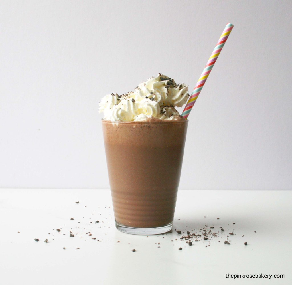 Chocolate Almond Milkshake - dairy free or full of dairy, your choice! | The Pink Rose Bakery