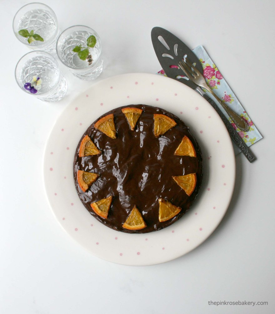 Chocolate Orange Truffle Cake - flour-less and grain free | The Pink Rose Bakery