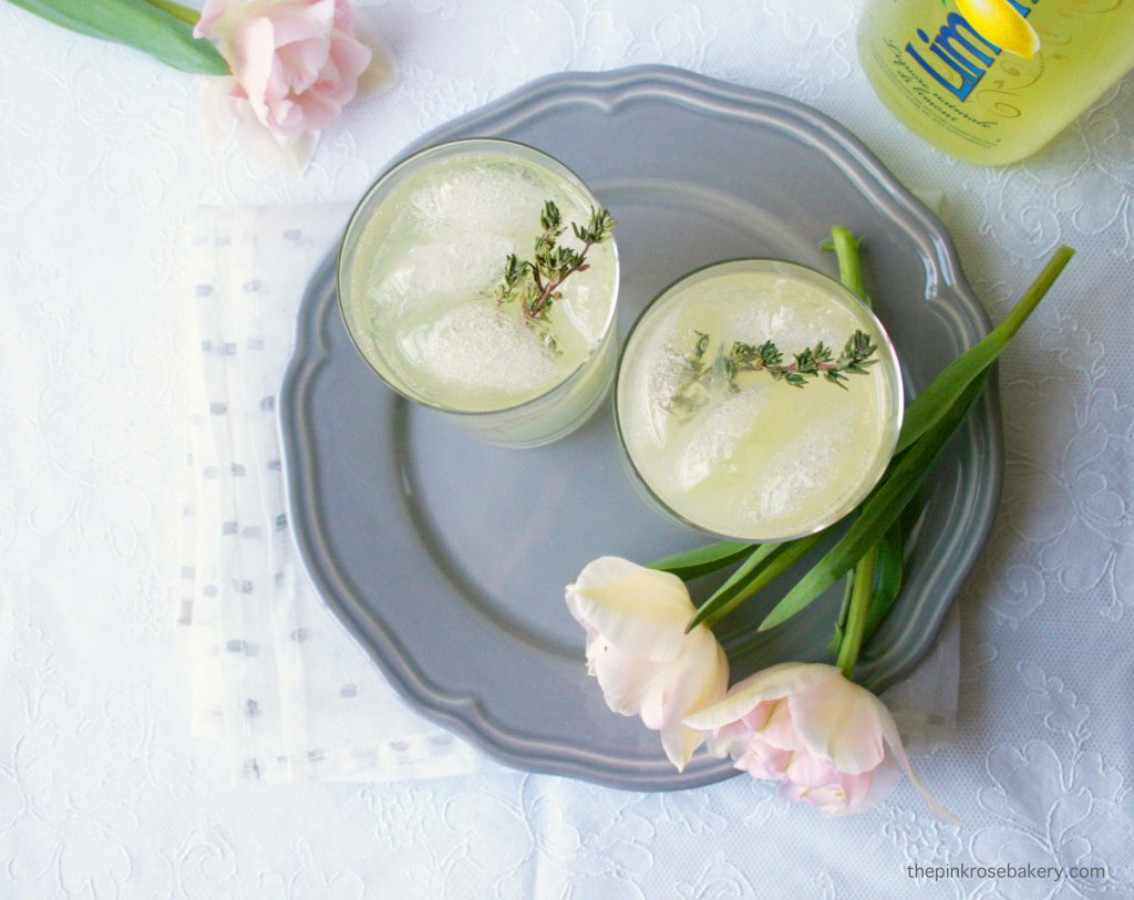 Limoncello Thyme Fizz | The Pink Rose Bakery