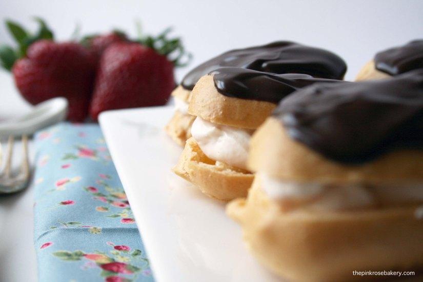Strawberry Cream Choux Puffs (gluten free) | The Pink Rose Bakery