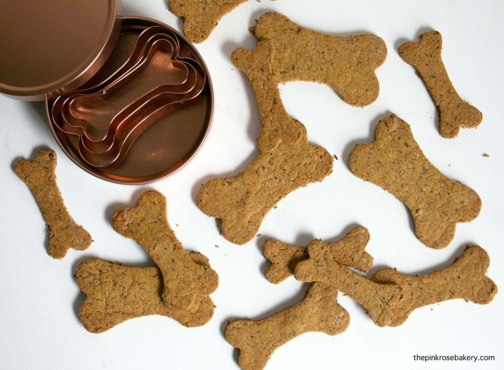 Carrot, Peanut Butter & Cheese Oaty Doggie Biscuits - home-made gluten-free treats for your four legged fur babies | The Pink Rose Bakery
