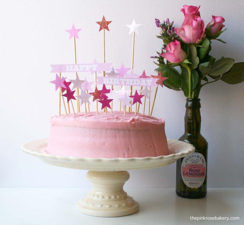 pink birthday cake 1