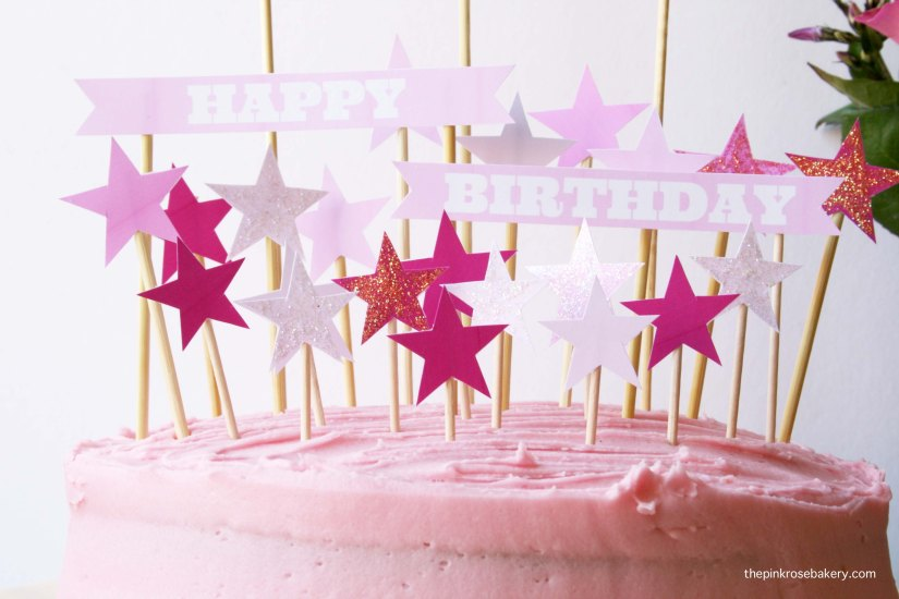 pink birthday cake 2