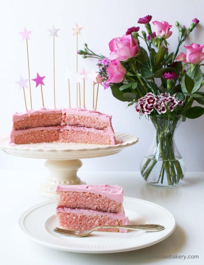 pink birthday cake 4
