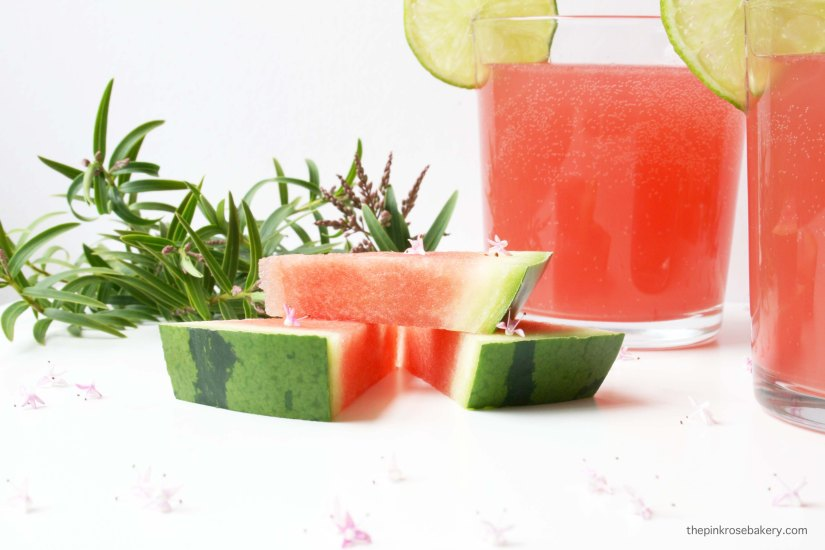 Watermelon, Gin & Elderflower Cooler - perfect for summer! | The Pink Rose Bakery