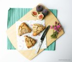 Roasted Fig & Vanilla Scones {gluten free} | The Pink Rose Bakery
