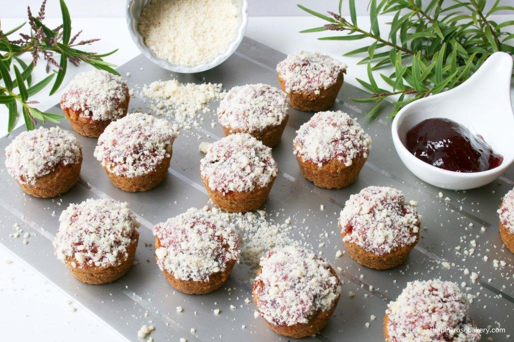 Mini Peanut Butter & Jelly Doughnut Muffins {gluten free & dairy free}   The Pink Rose Bakery