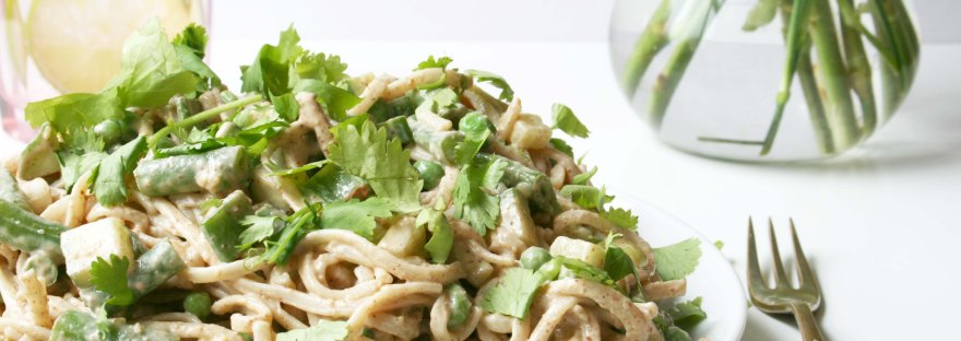 Quick & Easy Satay Noodles {gluten free and dairy free} | The Pink Rose Bakery