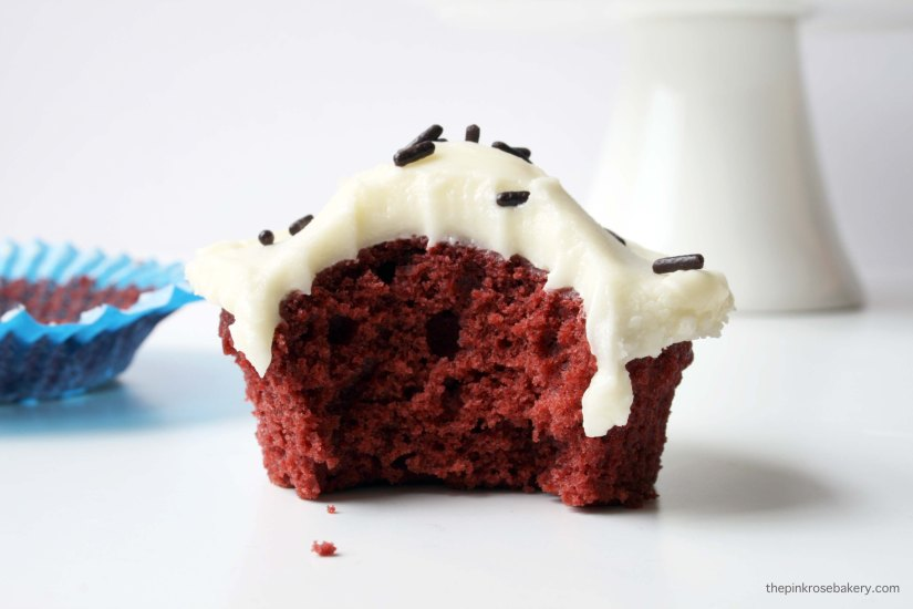 Classic Red Velvet Cupcakes {gluten-free} | The Pink Rose Bakery