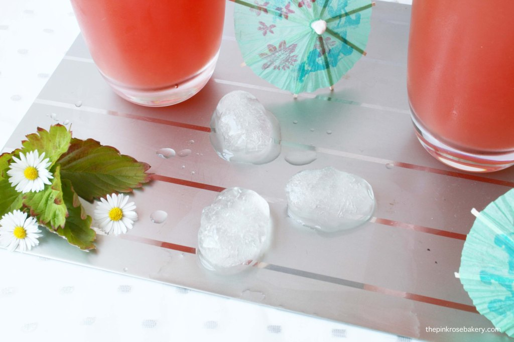 Watermelon Ginger Fizz - only 3 ingredients & very refreshing! | The Pink Rose Bakery