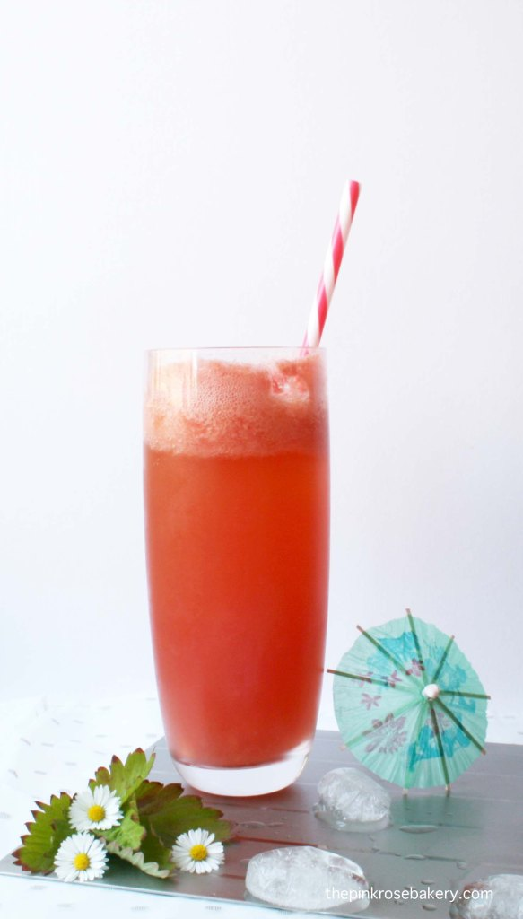 Watermelon Ginger Fizz - only 3 ingredients & very refreshing!   The Pink Rose Bakery