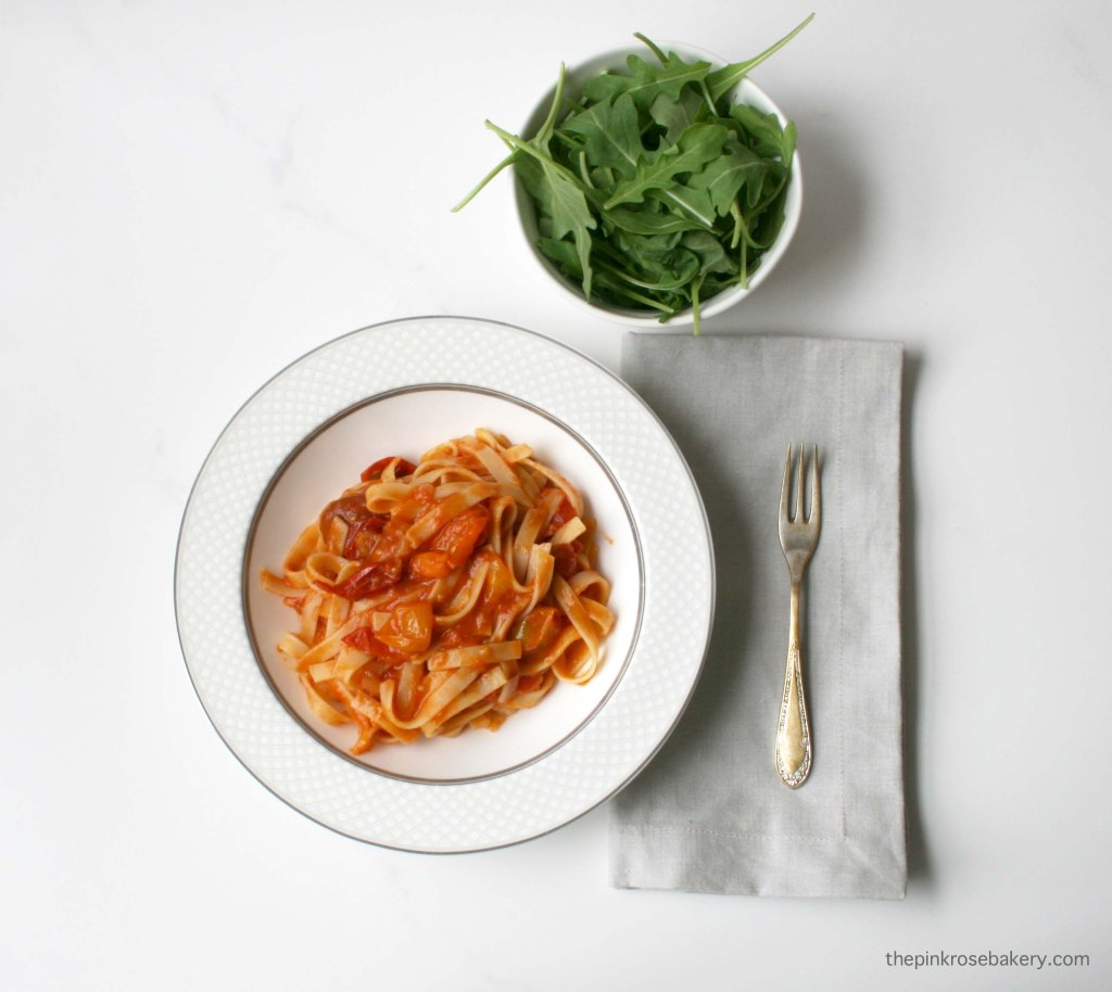 Easy & Simple Tomato Sauce {gluten-free & dairy-free} | The Pink Rose Bakery