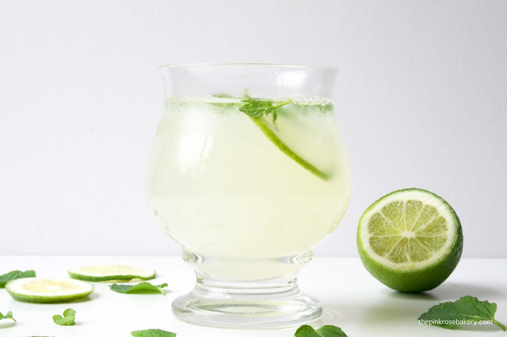 Mint Lime-Ade - a refreshing change to lemonade | The Pink Rose Bakery
