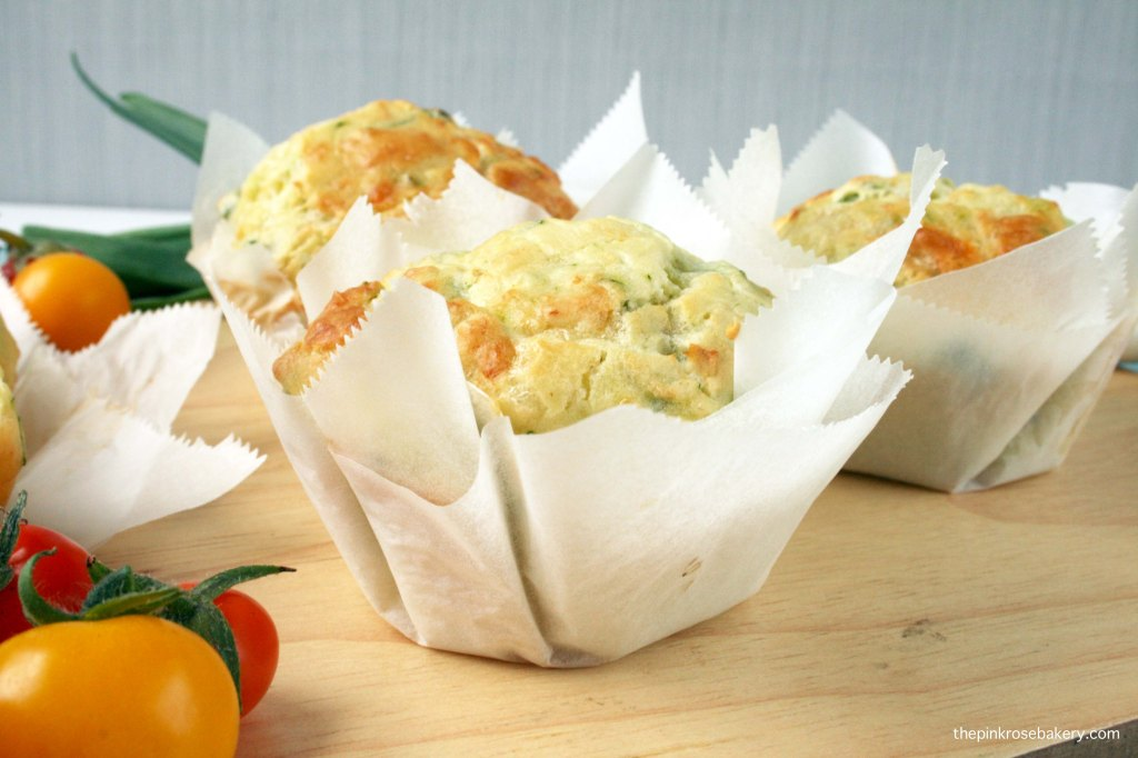 Courgette & Salad Onion Muffins {gluten-free} | The Pink Rose Bakery