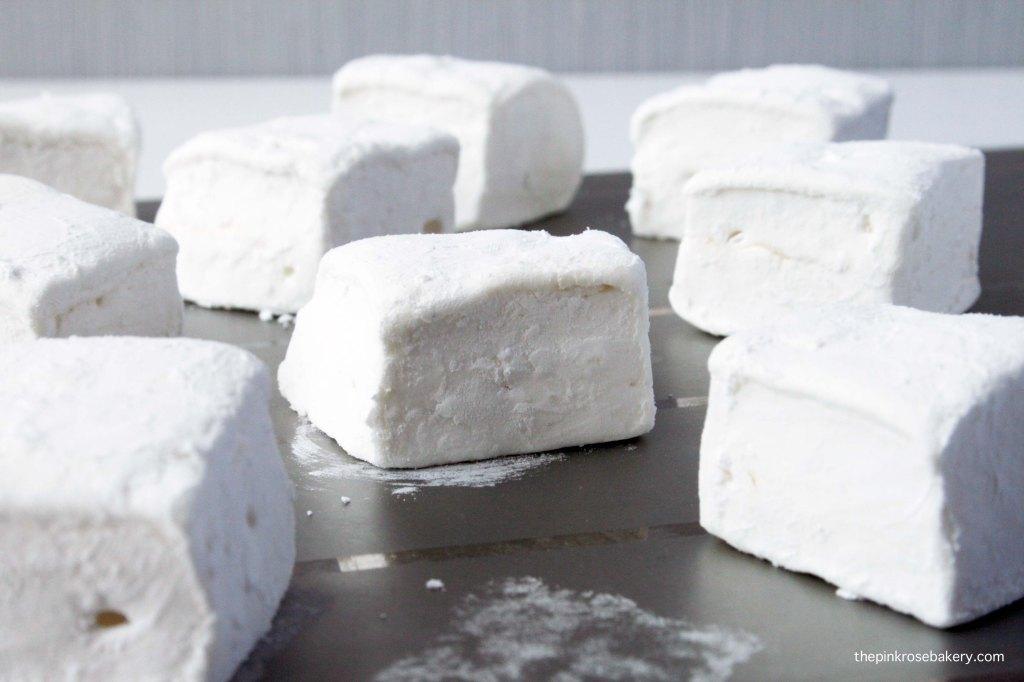 Homemade Vanilla Marshmallow {gluten free & dairy free} | The Pink Rose Bakery