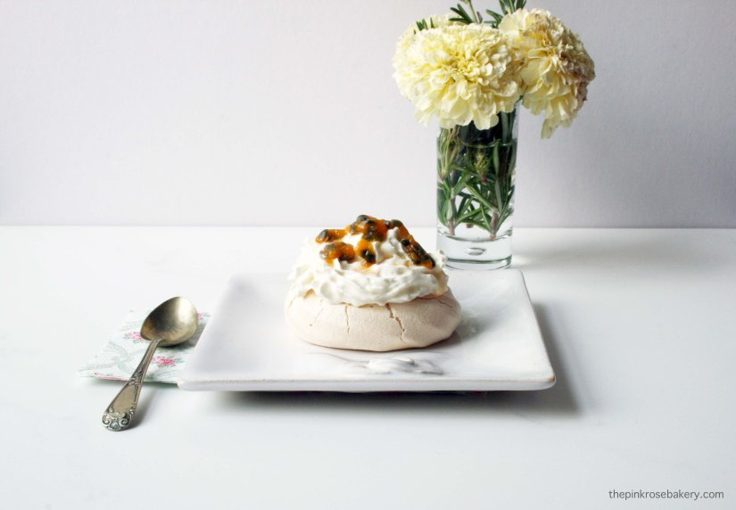 Passion Meringues with Coconut Cream {gluten free & dairy free} | The Pink Rose Bakery