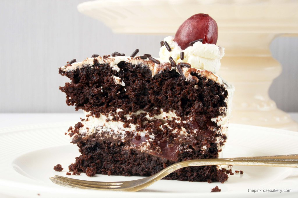 Black Forest Cake {gluten free} | The Pink Rose Bakery