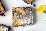 Chocolate Orange Marbled Cheesecake Brownies {gluten free} | The Pink Rose Bakery