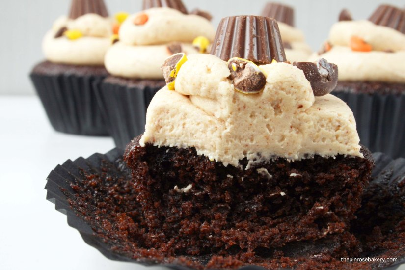 Peanut Butter Cup Cupcakes {gluten free} | The Pink Rose Bakery
