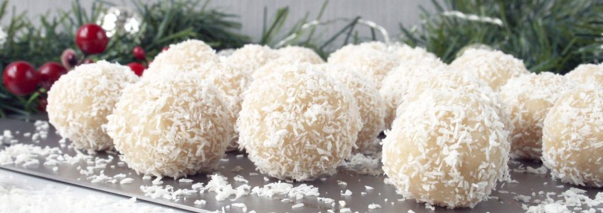Almond & Coconut Snowballs {dairy free and gluten free} | The Pink Rose Bakery