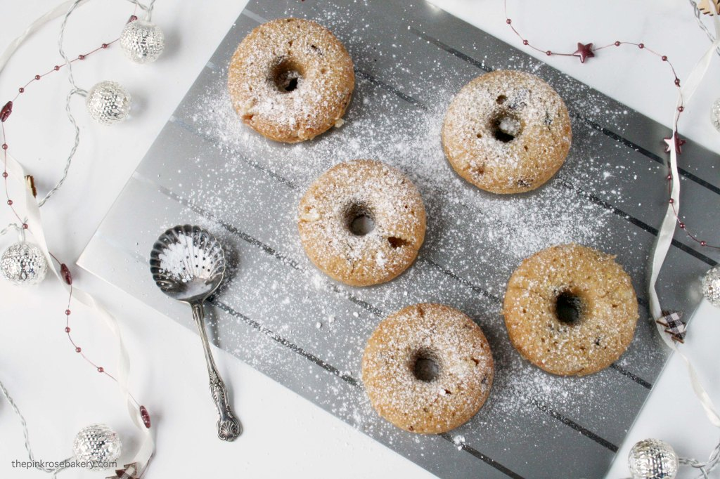 Baked 'Stollen' Doughnuts {gluten free & dairy free} | The Pink Rose Bakery