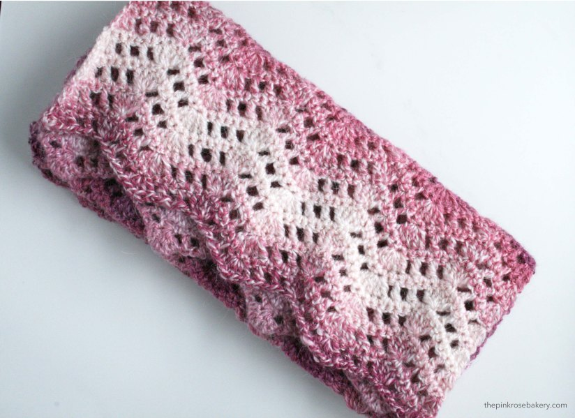 Simple Crochet Scarf | The Pink Rose Bakery