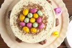 Easter Nest Cake with Guardian Bunnies {gluten free} | The Pink Rose Bakery
