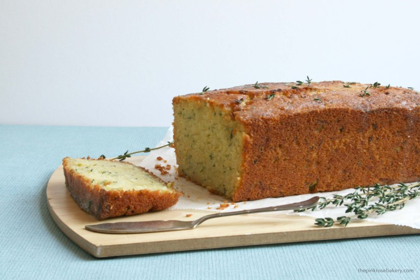 Courgette, Lemon & Thyme Cake {gluten free} | The Pink Rose Bakery