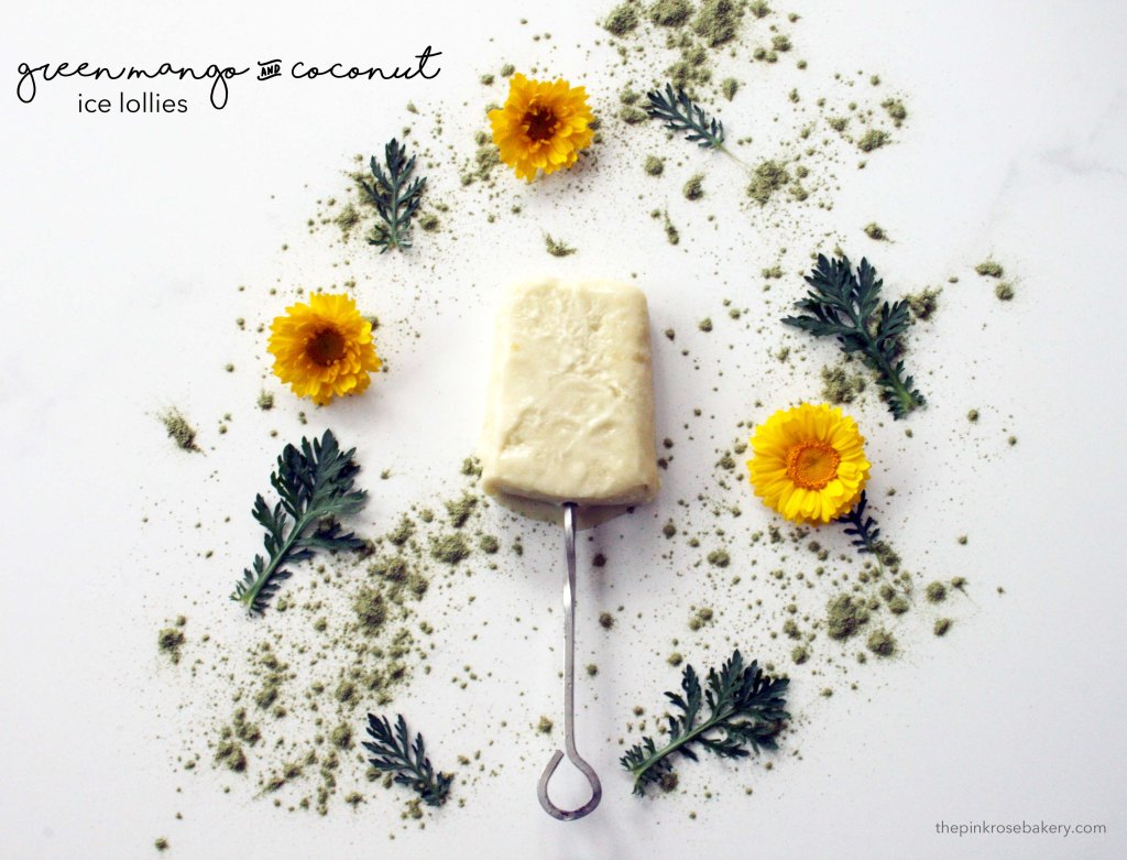 Green Mango & Coconut Ice Lollies {gluten free, dairy free} | The Pink Rose Bakery