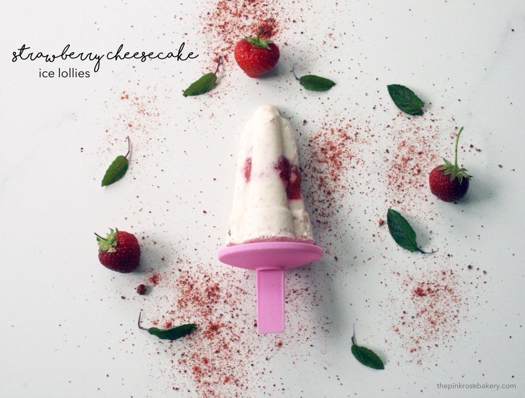 Strawberry Cheesecake Ice Lolly {gluten free} | The Pink Rose Bakery